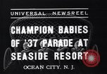 Image of annual baby parade Ocean City New Jersey USA, 1937, second 8 stock footage video 65675038357