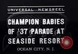 Image of annual baby parade Ocean City New Jersey USA, 1937, second 10 stock footage video 65675038357