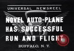 Image of auto plane Buffalo New York USA, 1937, second 1 stock footage video 65675038359