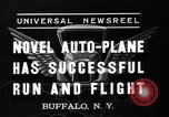 Image of auto plane Buffalo New York USA, 1937, second 3 stock footage video 65675038359