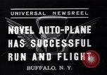 Image of auto plane Buffalo New York USA, 1937, second 7 stock footage video 65675038359