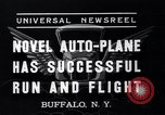 Image of auto plane Buffalo New York USA, 1937, second 8 stock footage video 65675038359