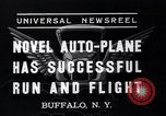 Image of auto plane Buffalo New York USA, 1937, second 9 stock footage video 65675038359