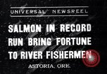 Image of Salmon Astoria Oregon USA, 1937, second 1 stock footage video 65675038360