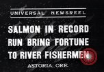 Image of Salmon Astoria Oregon USA, 1937, second 9 stock footage video 65675038360