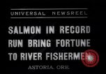 Image of Salmon Astoria Oregon USA, 1937, second 10 stock footage video 65675038360