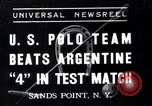 Image of polo match Sands Point New York USA, 1937, second 1 stock footage video 65675038362
