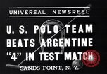 Image of polo match Sands Point New York USA, 1937, second 2 stock footage video 65675038362