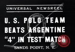 Image of polo match Sands Point New York USA, 1937, second 3 stock footage video 65675038362