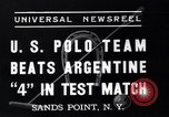 Image of polo match Sands Point New York USA, 1937, second 4 stock footage video 65675038362