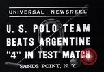 Image of polo match Sands Point New York USA, 1937, second 5 stock footage video 65675038362