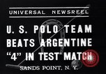 Image of polo match Sands Point New York USA, 1937, second 7 stock footage video 65675038362