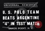 Image of polo match Sands Point New York USA, 1937, second 9 stock footage video 65675038362