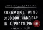 Image of Rosemont wins horse race Arcadia California USA, 1937, second 1 stock footage video 65675038373