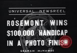 Image of Rosemont wins horse race Arcadia California USA, 1937, second 2 stock footage video 65675038373