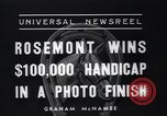 Image of Rosemont wins horse race Arcadia California USA, 1937, second 6 stock footage video 65675038373