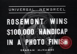 Image of Rosemont wins horse race Arcadia California USA, 1937, second 8 stock footage video 65675038373