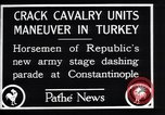 Image of cavalry units Constantinople Turkey, 1928, second 7 stock footage video 65675038376