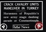 Image of cavalry units Constantinople Turkey, 1928, second 9 stock footage video 65675038376