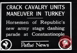 Image of cavalry units Constantinople Turkey, 1928, second 10 stock footage video 65675038376