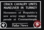 Image of cavalry units Constantinople Turkey, 1928, second 11 stock footage video 65675038376
