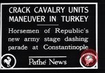 Image of cavalry units Constantinople Turkey, 1928, second 12 stock footage video 65675038376