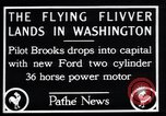 Image of Ford monoplane Washington DC USA, 1928, second 4 stock footage video 65675038377