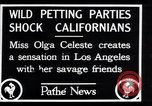 Image of Olga Celeste Los Angeles California USA, 1928, second 3 stock footage video 65675038378