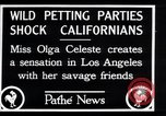 Image of Olga Celeste Los Angeles California USA, 1928, second 4 stock footage video 65675038378