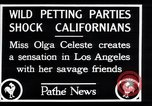 Image of Olga Celeste Los Angeles California USA, 1928, second 6 stock footage video 65675038378