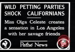 Image of Olga Celeste Los Angeles California USA, 1928, second 12 stock footage video 65675038378