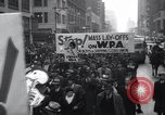 Image of protest New York United States USA, 1937, second 6 stock footage video 65675038386