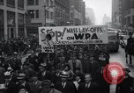 Image of protest New York United States USA, 1937, second 8 stock footage video 65675038386