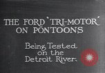 Image of Ford Tri Motor Detroit Michigan USA, 1927, second 1 stock footage video 65675038394