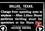 Image of Lillian Boyer wing walker Dallas Texas USA, 1920, second 1 stock footage video 65675038427