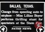 Image of Lillian Boyer wing walker Dallas Texas USA, 1920, second 2 stock footage video 65675038427