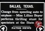 Image of Lillian Boyer wing walker Dallas Texas USA, 1920, second 7 stock footage video 65675038427