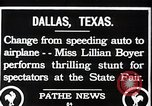 Image of Lillian Boyer wing walker Dallas Texas USA, 1920, second 8 stock footage video 65675038427