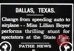Image of Lillian Boyer wing walker Dallas Texas USA, 1920, second 9 stock footage video 65675038427