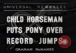 Image of Nine year old boy champion equestrian Wilmington Ohio USA, 1935, second 1 stock footage video 65675038436