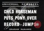Image of Nine year old boy champion equestrian Wilmington Ohio USA, 1935, second 4 stock footage video 65675038436