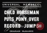 Image of Nine year old boy champion equestrian Wilmington Ohio USA, 1935, second 6 stock footage video 65675038436