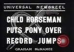 Image of Nine year old boy champion equestrian Wilmington Ohio USA, 1935, second 8 stock footage video 65675038436