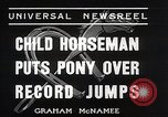 Image of Nine year old boy champion equestrian Wilmington Ohio USA, 1935, second 9 stock footage video 65675038436