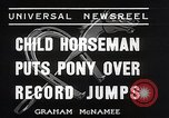 Image of Nine year old boy champion equestrian Wilmington Ohio USA, 1935, second 10 stock footage video 65675038436