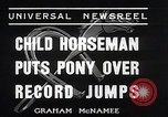Image of Nine year old boy champion equestrian Wilmington Ohio USA, 1935, second 11 stock footage video 65675038436