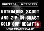 Image of motor boat race Long Beach California USA, 1937, second 2 stock footage video 65675038439