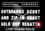 Image of motor boat race Long Beach California USA, 1937, second 3 stock footage video 65675038439