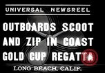 Image of motor boat race Long Beach California USA, 1937, second 4 stock footage video 65675038439