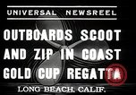 Image of motor boat race Long Beach California USA, 1937, second 5 stock footage video 65675038439